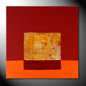"""Orange Break"" 60 x 60-Abstrakte Bilder"