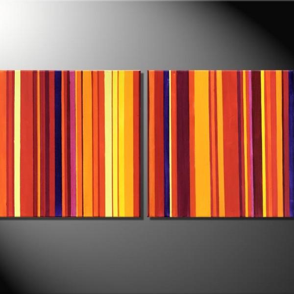 """""""Barcode VI""""-2  Bilder á 50 x 50 bis 60 x 60 cm-Mehrteiler"""