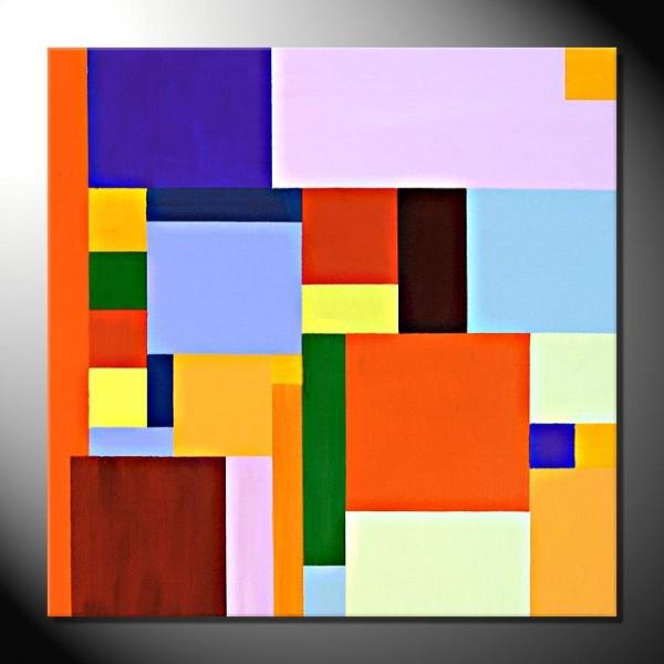 """Squares""-60 x 60 cm-Abstrakte Bilder"
