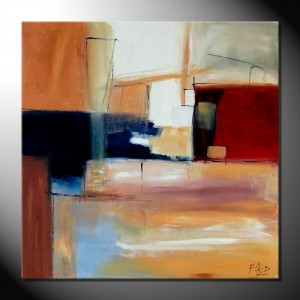 """City III""-80 x 80 cm-Strukturbild"