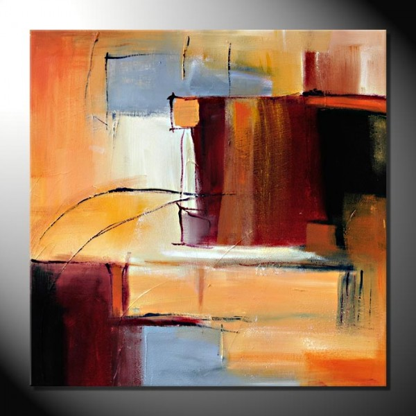 """City II""-80 x 80 cm-Strukturbild"
