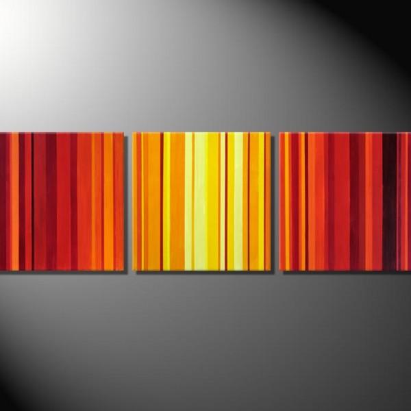 """""""Barcode IV""""-3 Bilder á 40 x 40 bis 60 x 60 cm-Mehrteiler"""