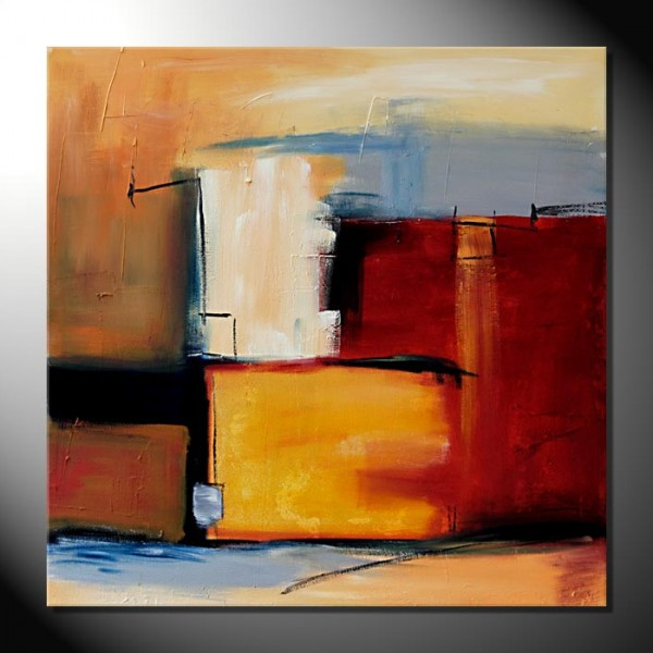 """City I""-80 x 80 cm-Strukturbild"
