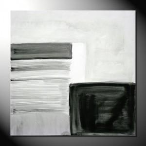 """Black"" & White II"" 80 x 80 cm-Abstrakte Bilder"