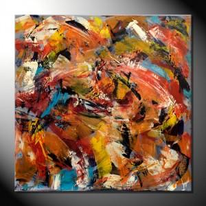 """Colors Iv"" 60 x 60-Abstrakte Bilder"