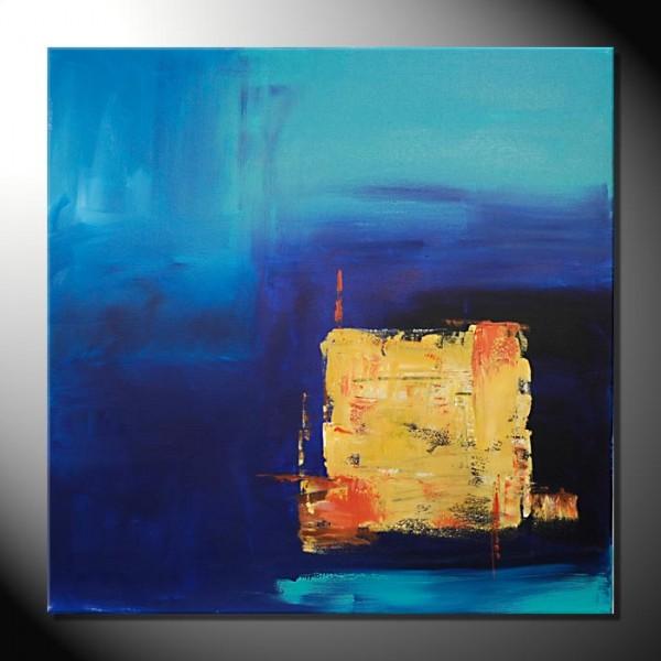 "Kunstbilder ""Yellow Square"" Abstrakte Bilder-80 x 80 cm"