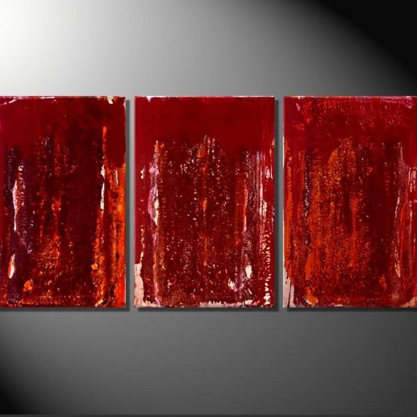 """""""Earth""""-3 Bilder á 40 x 60 cm-Abstrakte Bilder"""