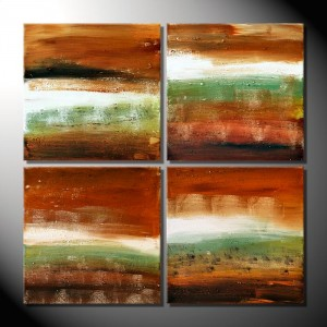 """Land Shapes""-Mehrteiler-4 Bilder á 40 x 40 cm"