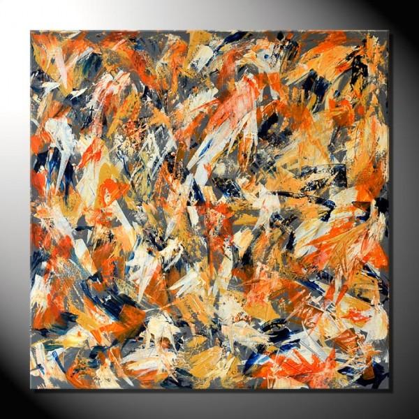 """""""Colors V""""-80 x 80 cm-Spachteltechnik"""
