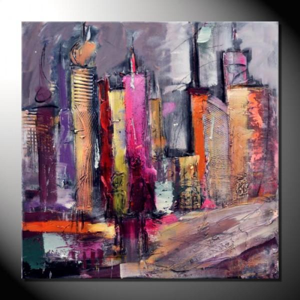 """""""Skyline""""-90 x 90 cm-Strukturbild"""