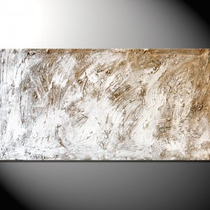"""Kunstbild """"White Rocks"""" Abstrakte Bilder 50 x 100 cm"""