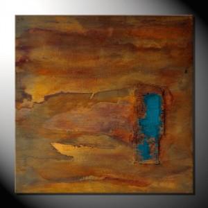 "Kunstbild ""Rust&Sea"" Abstrakte Bilder 90 x 90 cm"