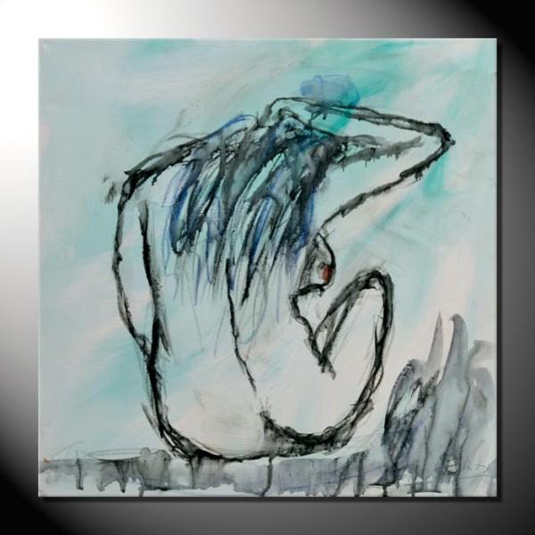 """""""Akt 2""""- 50 x 50 cm-Aktbilder-moderne Kunst"""
