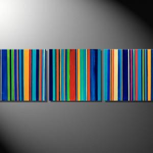 "Moderne Kunst Tiere Fiona Ritz ""Barcode II"" Triptychon"